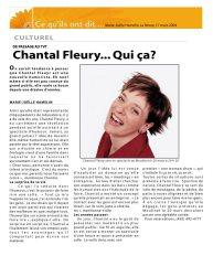 Chantal Fleury... Qui ça?
