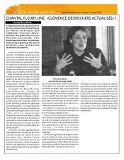 Chantal FLeury une Clémence Desrochers actualisée