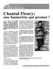 Chantal Fleury, une humoriste qui promet