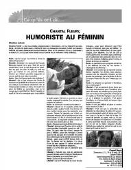 Humoriste au féminin