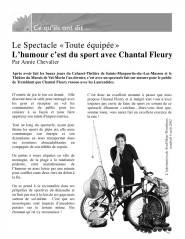 L'humour c'est du sport avec Chantal Flueyr