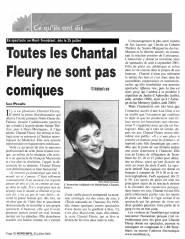 Toutes les Chantal Fleury ne sont pas comiques
